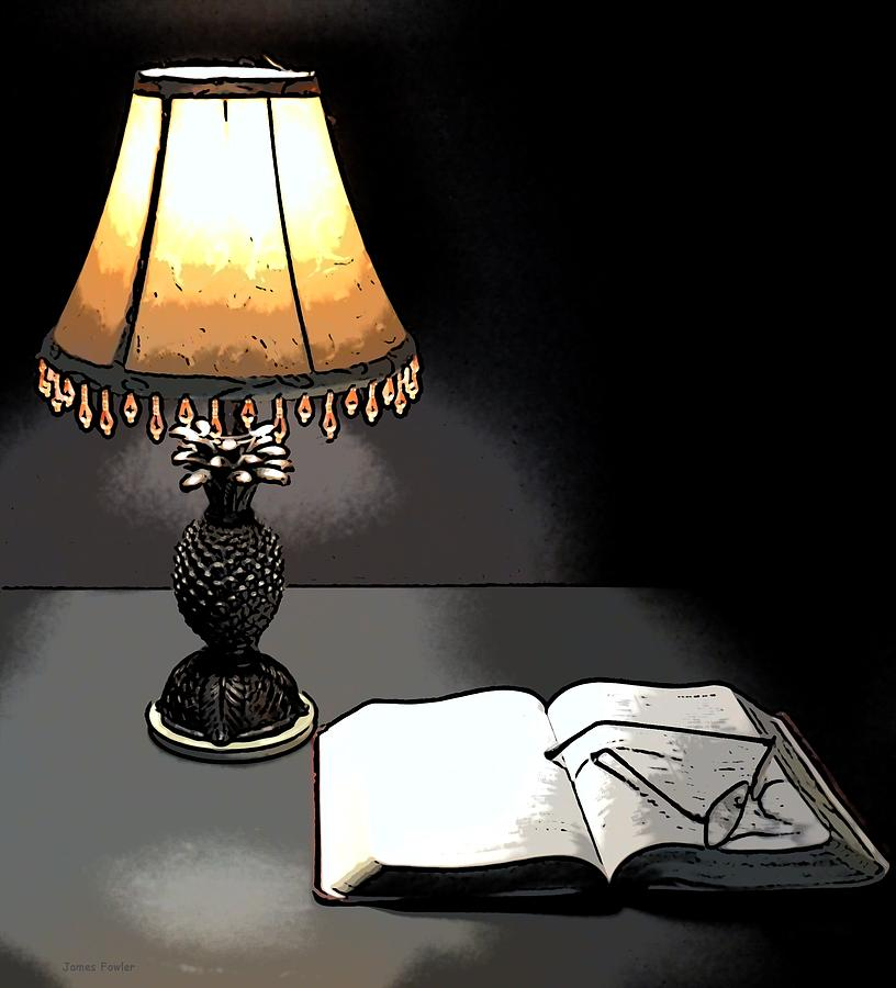 lamp and bible - photo #2