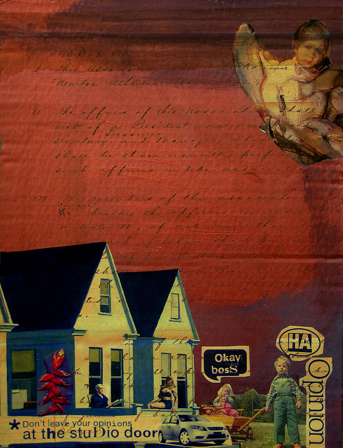 Text Mixed Media - Opinions by Adam Kissel