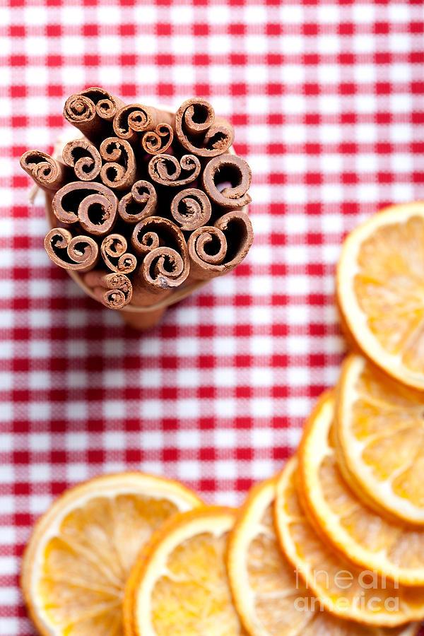 Orange Photograph - Orange And Cinnamon by Nailia Schwarz