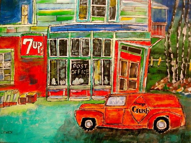 Orange Crush Painting - Orange Crush Delivery by Michael Litvack