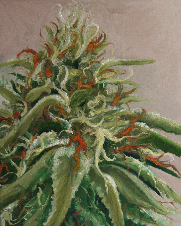 Cannabis Painting - Orange Dreamsicle by Cristin Paige