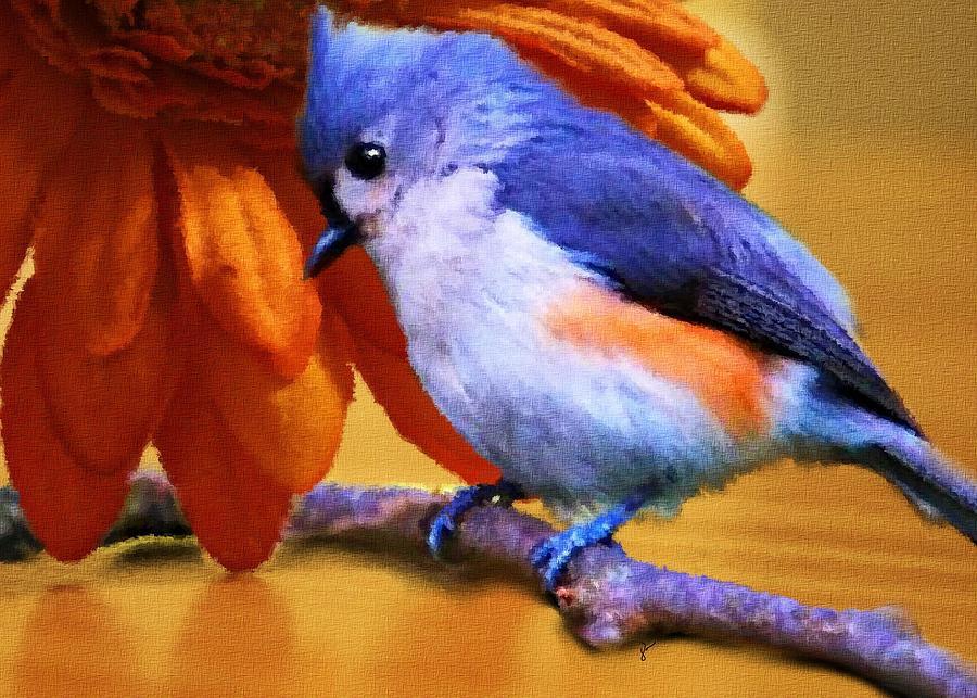 Bird Painting - Orange Medley by Jai Johnson