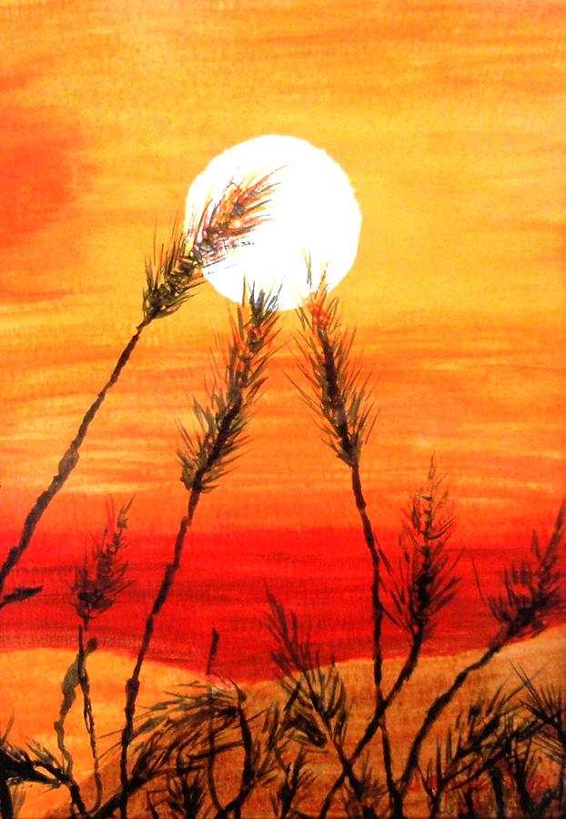 Orange Sunset Painting By Jamie Frier