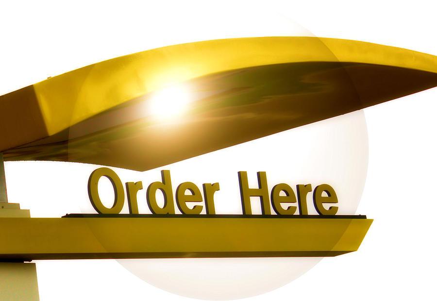 Mcdonalds Photograph - Order Up by Karen M Scovill