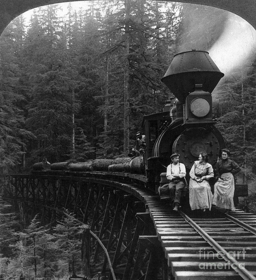 Oregon: Logging Train Photograph