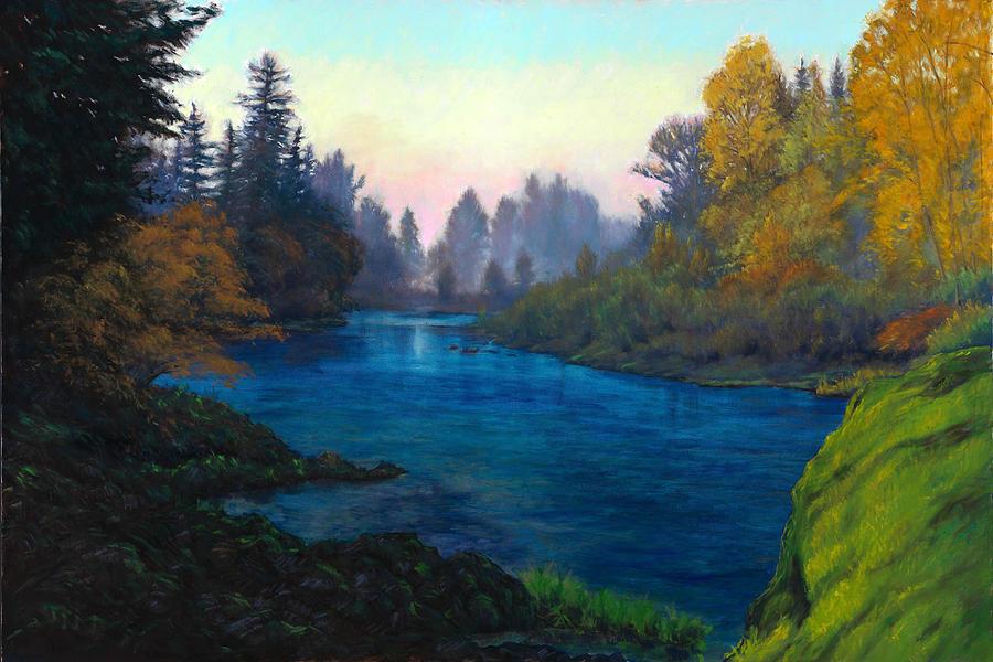Lake Painting - Oregon Santiam Landscape by Michael Orwick