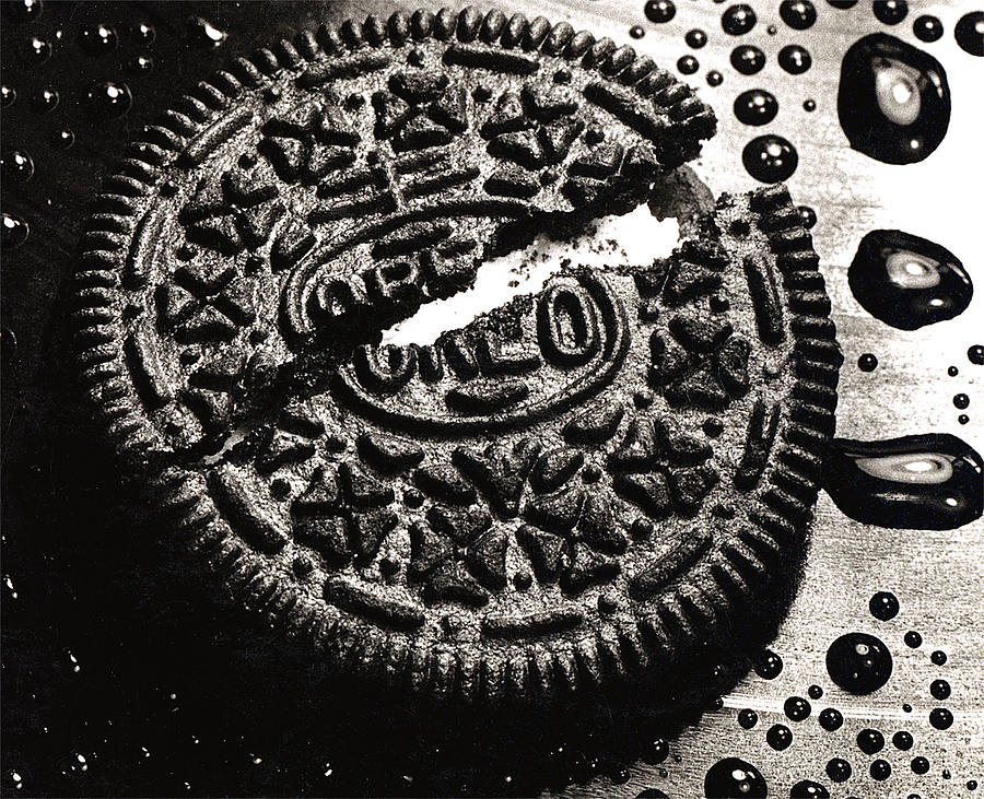 Cookie Photograph - Oreo Cookie by Nancy Mueller