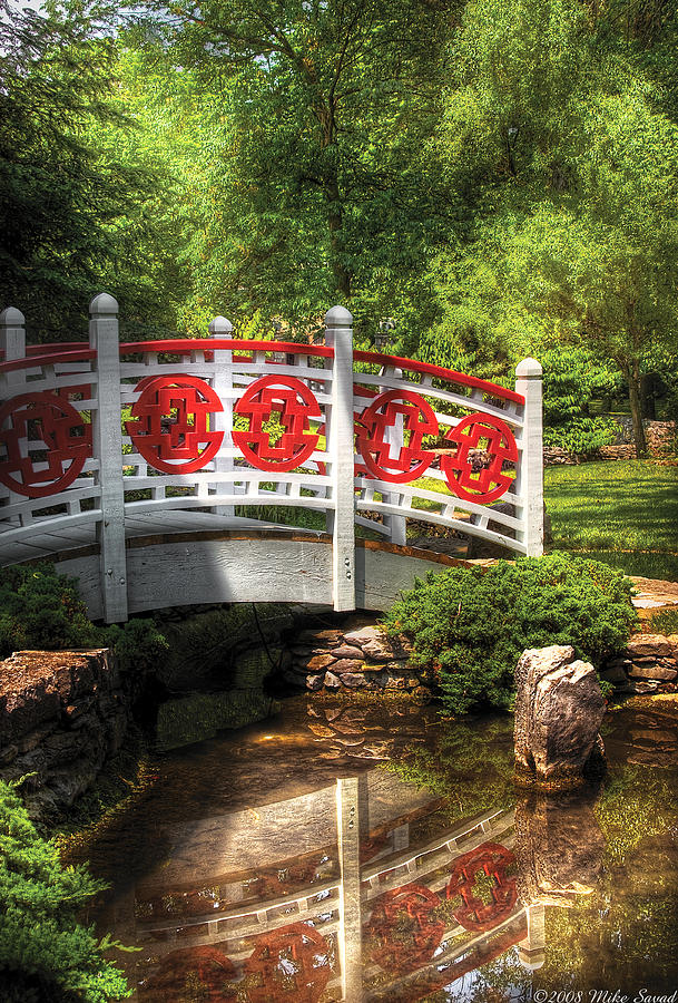 Savad Photograph - Orient - Bridge - Tranquility by Mike Savad