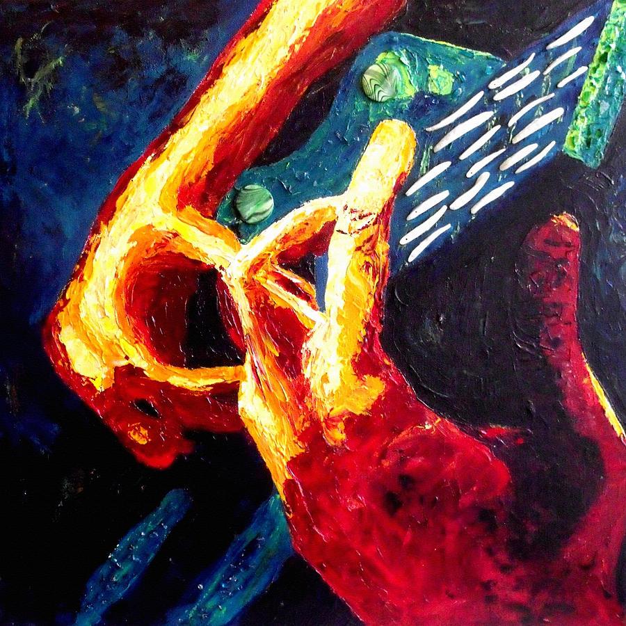 Original Modern Abstract Contemporary Guitar Art Painting ...