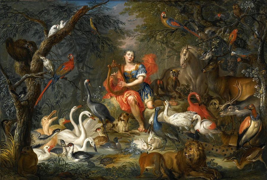 Orpheus Charming The Animals Painting by Franz Christoph ... - photo#37