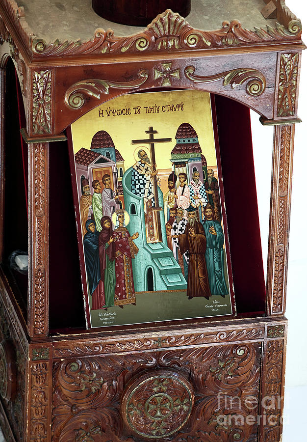 Orthodox Icon Photograph - Orthodox Icon by John Rizzuto