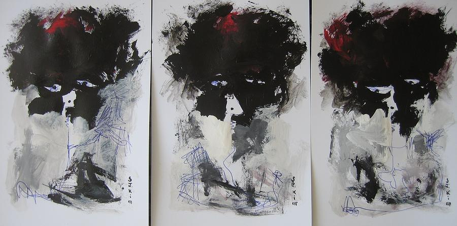 Original Painting - Other Than 3 by Seon-Jeong Kim
