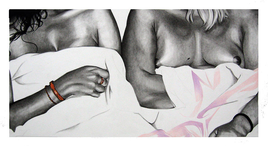 Female Nudes Drawing - Our Ladies by John-Clayton Wilson