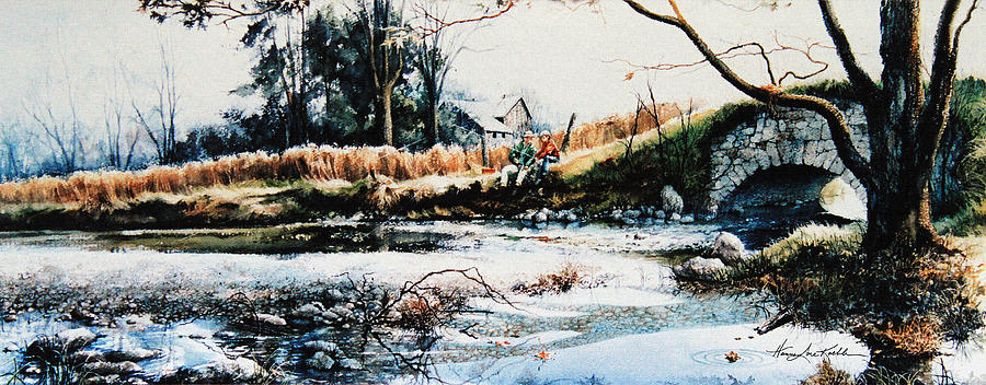 Farm Creek Painting Painting - Our Special Place by Hanne Lore Koehler