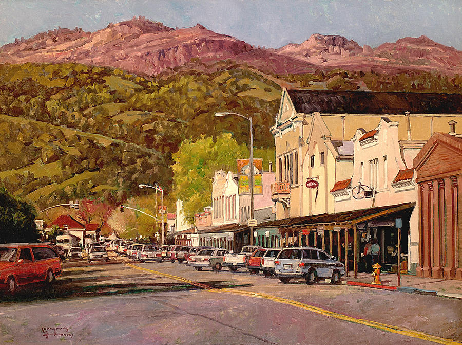 Calistoga Painting - Our Town by Paul Youngman