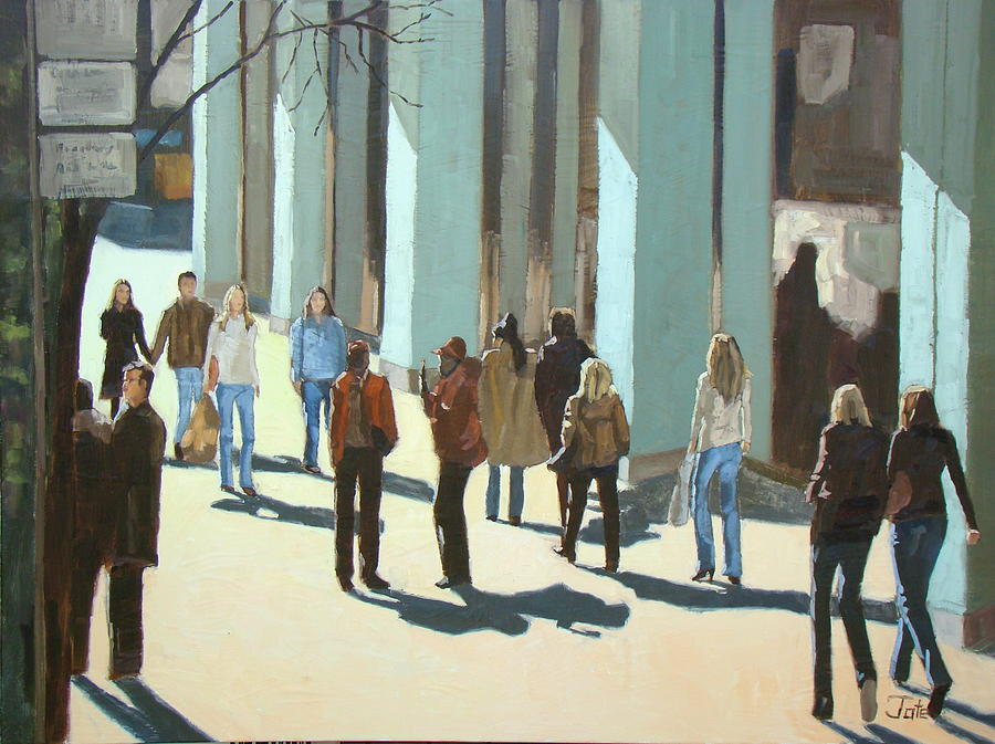 Landscape Painting - Out For A Walk With Shadows Number Two by Tate Hamilton