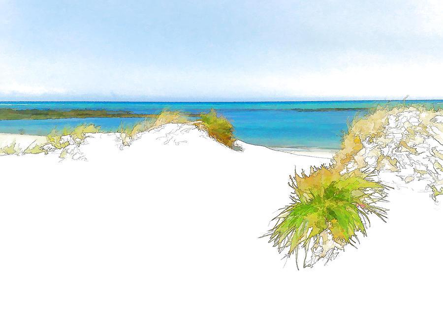 Sand Digital Art - Over The Dunes 2 by Jan Hattingh