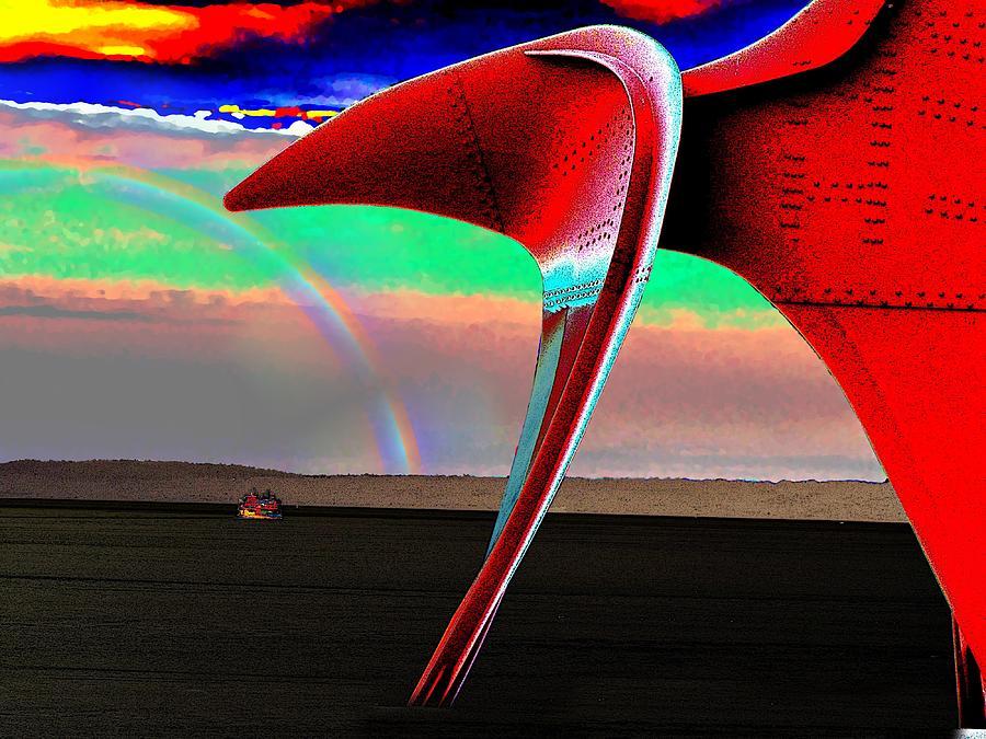 Rainbow Digital Art - Over The Rainbow by Tim Allen