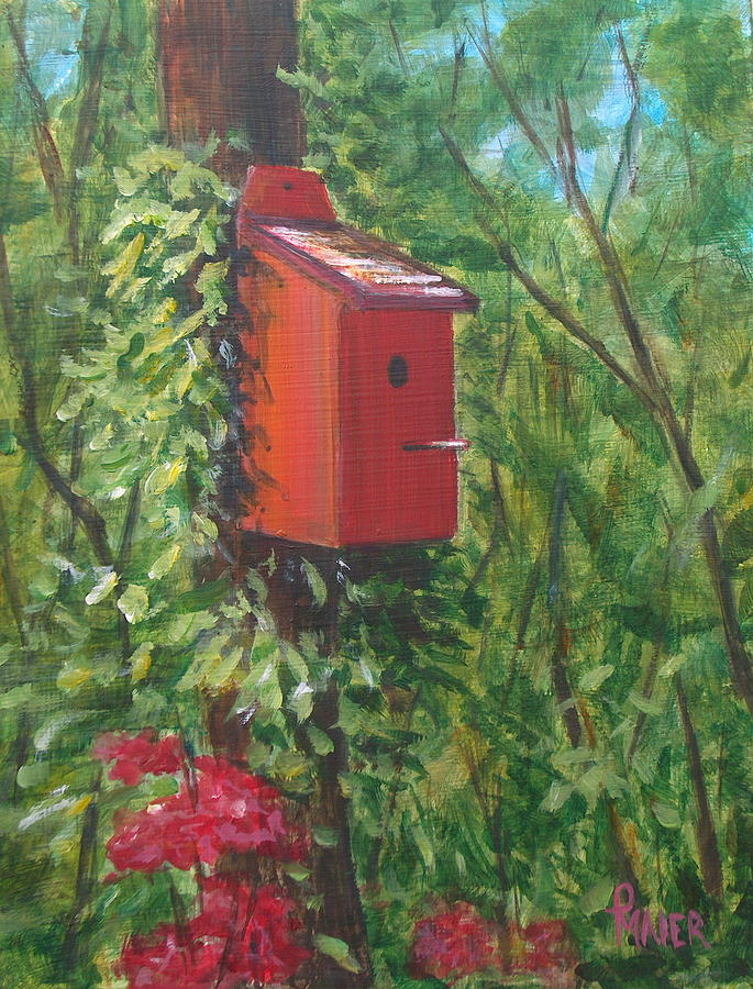 Birdhouse Painting - Over Yonder by Pete Maier