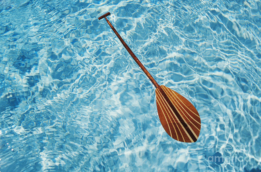 Above Photograph - Overhead View Of Paddle by Joss - Printscapes