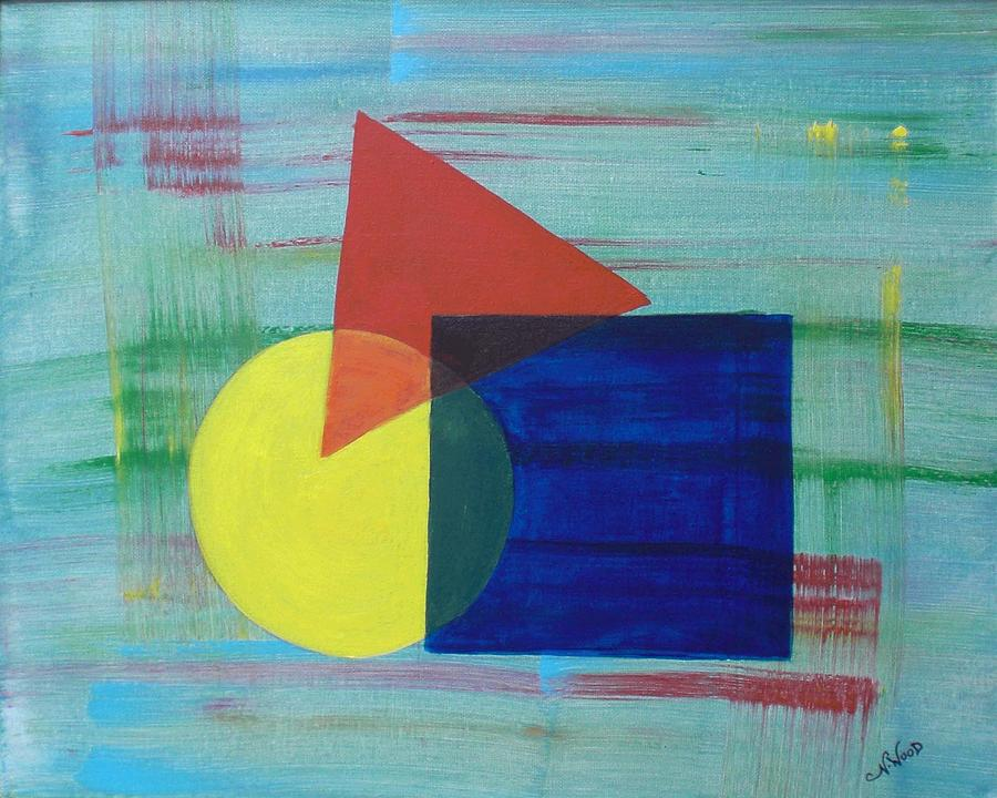 Define Shape In Art : Overlapping shapes painting by nancy otey