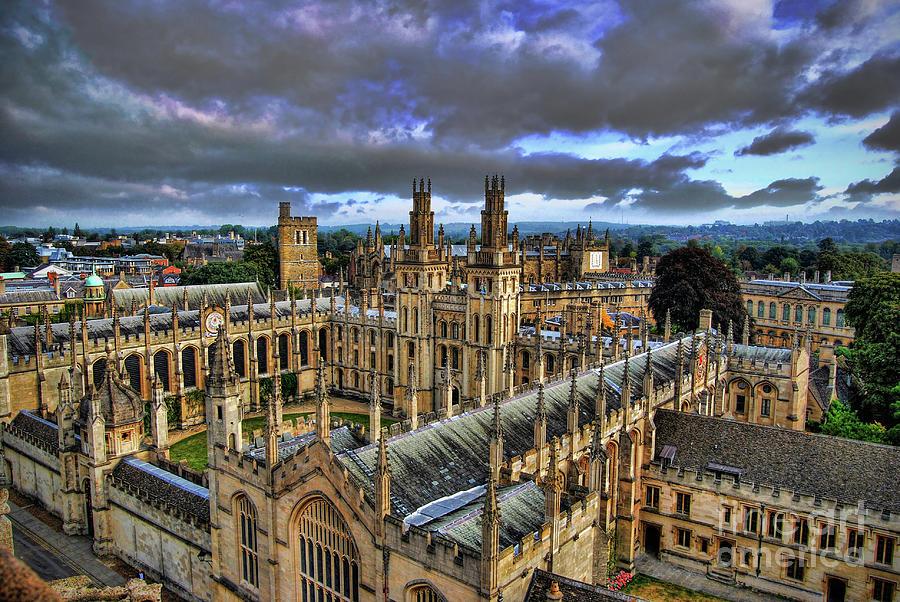 Oxford Photograph - Oxford University - All Souls College by Yhun Suarez