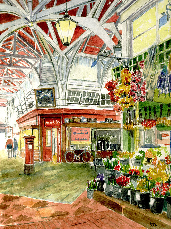 Apples Painting - Oxfords Covered Market by Mike Lester