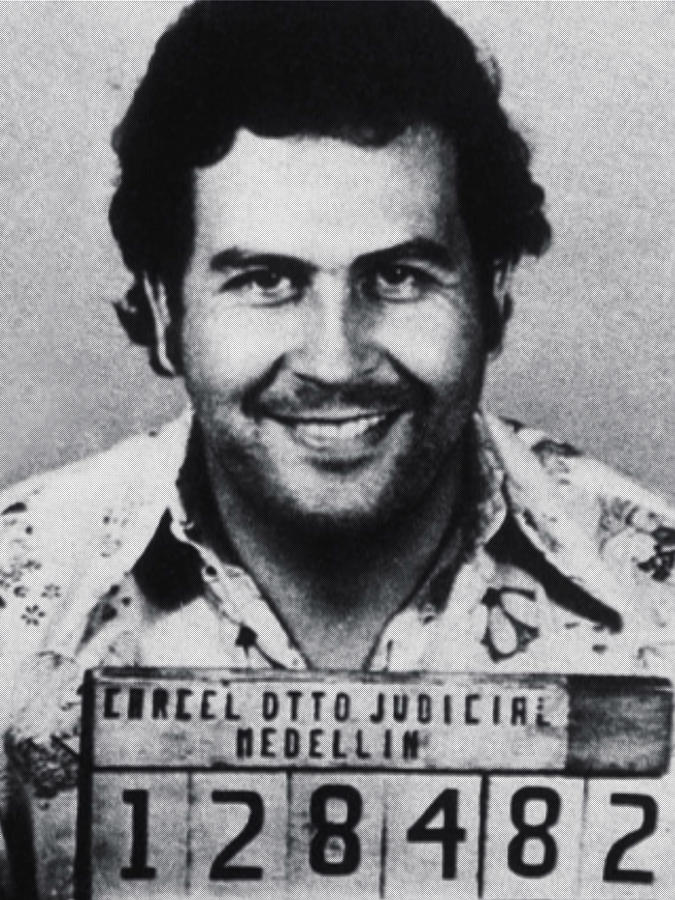 Pablo Escobar Mug Shot 1991 Vertical Photograph