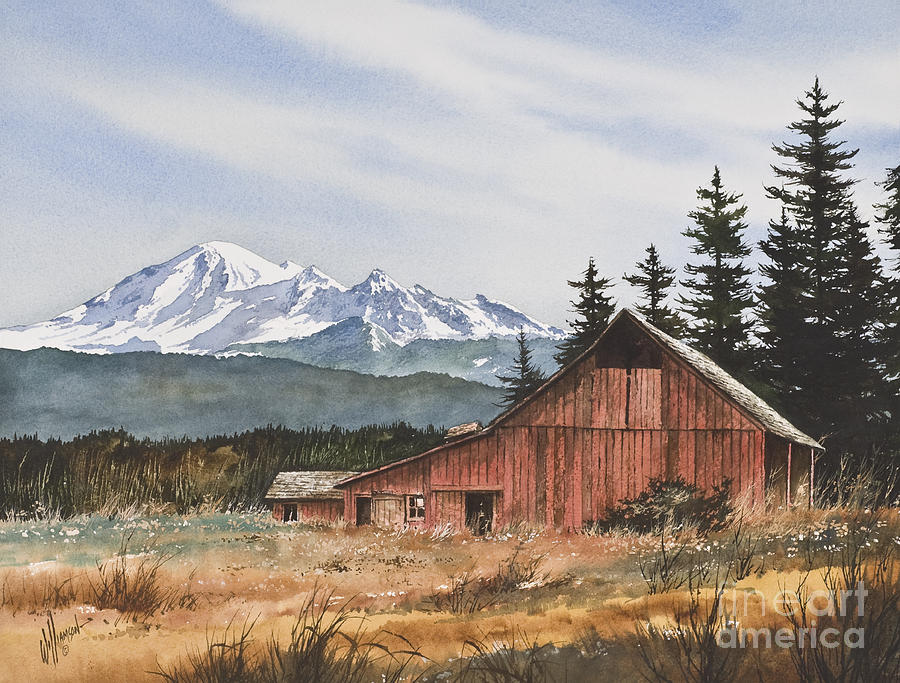 Landscape Fine Art Print Painting - Pacific Northwest Landscape by James Williamson