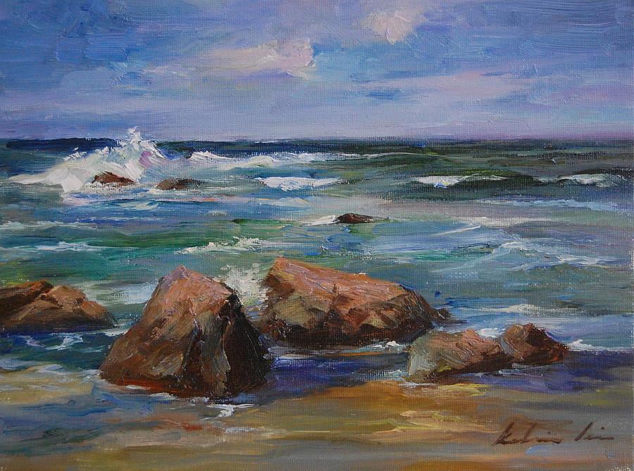 Pacific Ocean Painting by Kelvin Lei