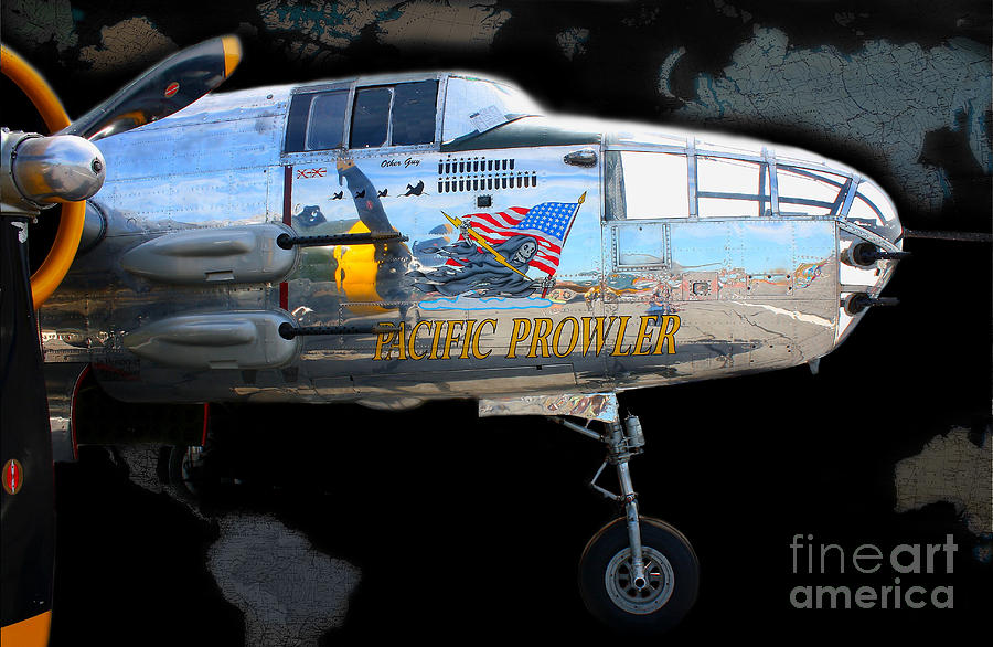Airplane Photograph - Pacific Prowler by Barbara Teller