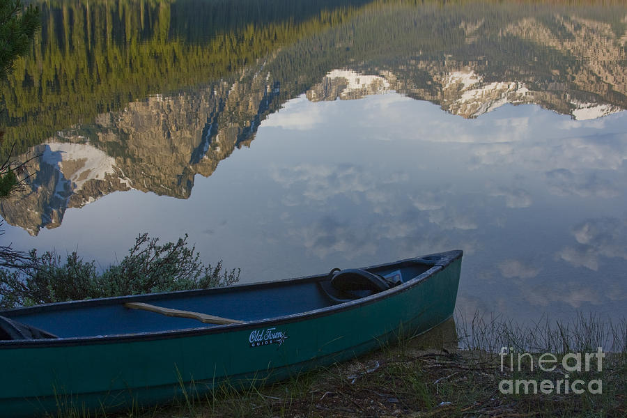 Canoe Photograph - Paddle To The Mountains by Idaho Scenic Images Linda Lantzy