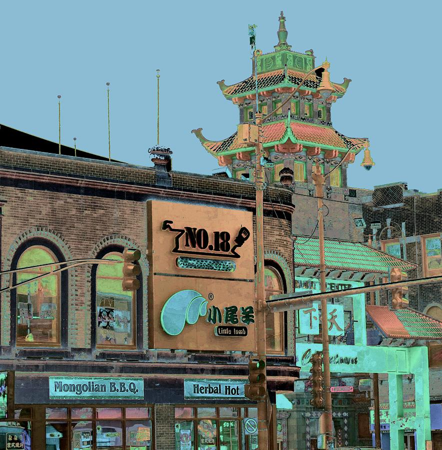 China Town Photograph - Pagoda Tower Chinatown Chicago by Marianne Dow