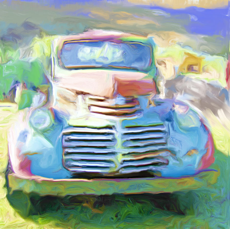 Truck Painting - Painted by Lou  Novick