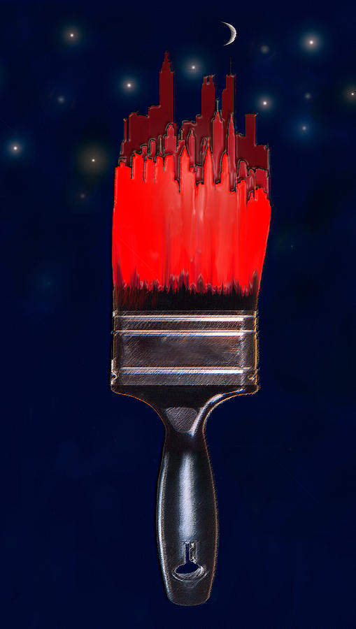 Paint Digital Art - Painting The Town Red by Jane Schnetlage