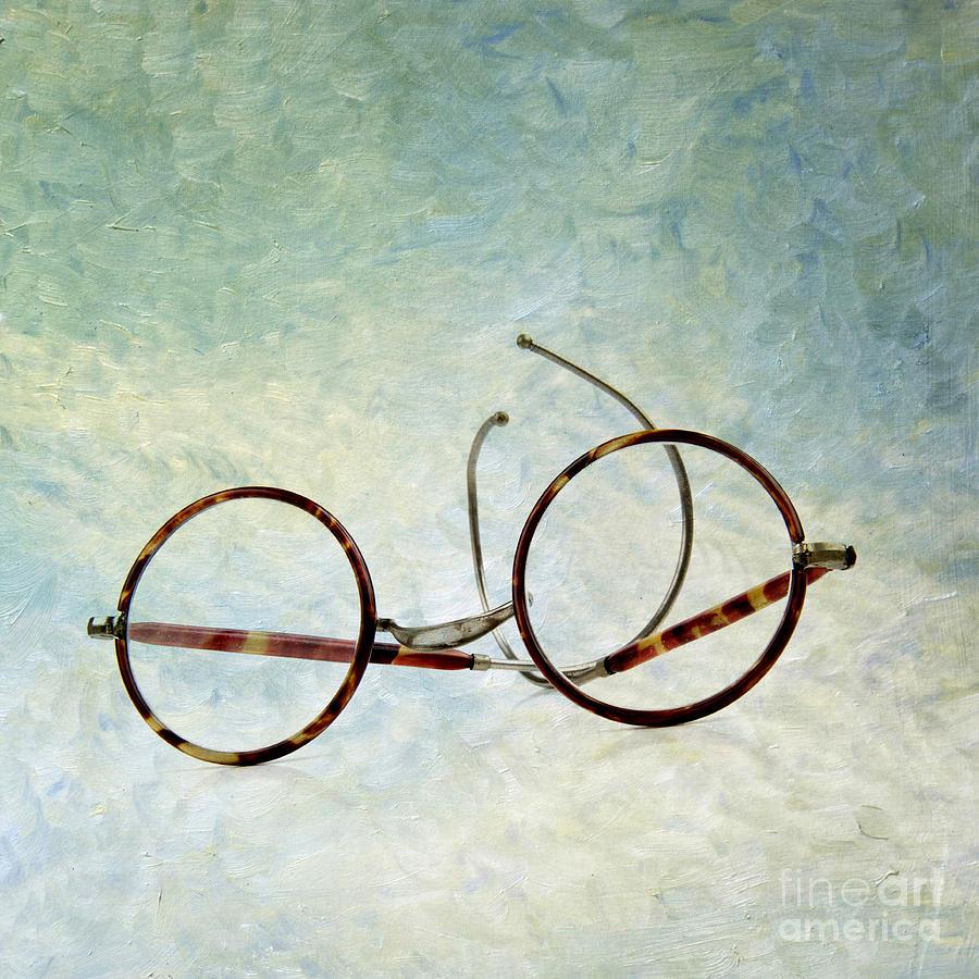 Texture Photograph - Pair Of Glasses by Bernard Jaubert