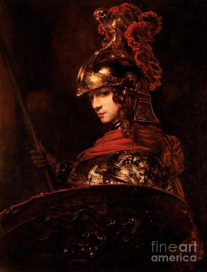 Pallas Athena Painting