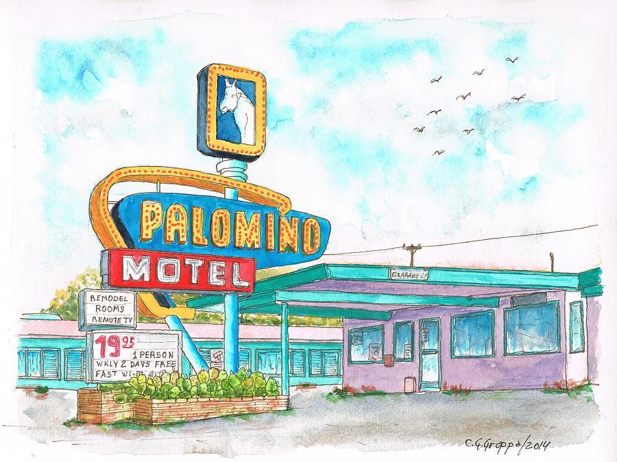 Palomino Motel In Route 66, Tucumcari, New Mexico Painting