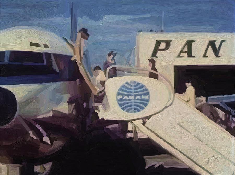 Air Stairs Painting - Pan American Airways Boeing 707 by Nop Briex