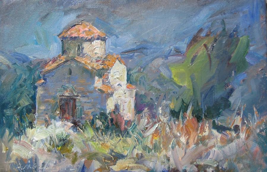 Pascalis Painting - Panayia Livadiotissa by Paskalis Anastasi
