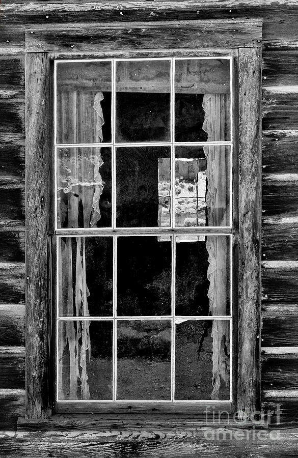Black&white Photograph - Panes To The Past by Sandra Bronstein