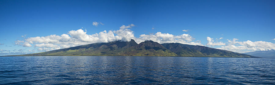 Afternoon Photograph - Panoramic West Maui by Dave Fleetham - Printscapes