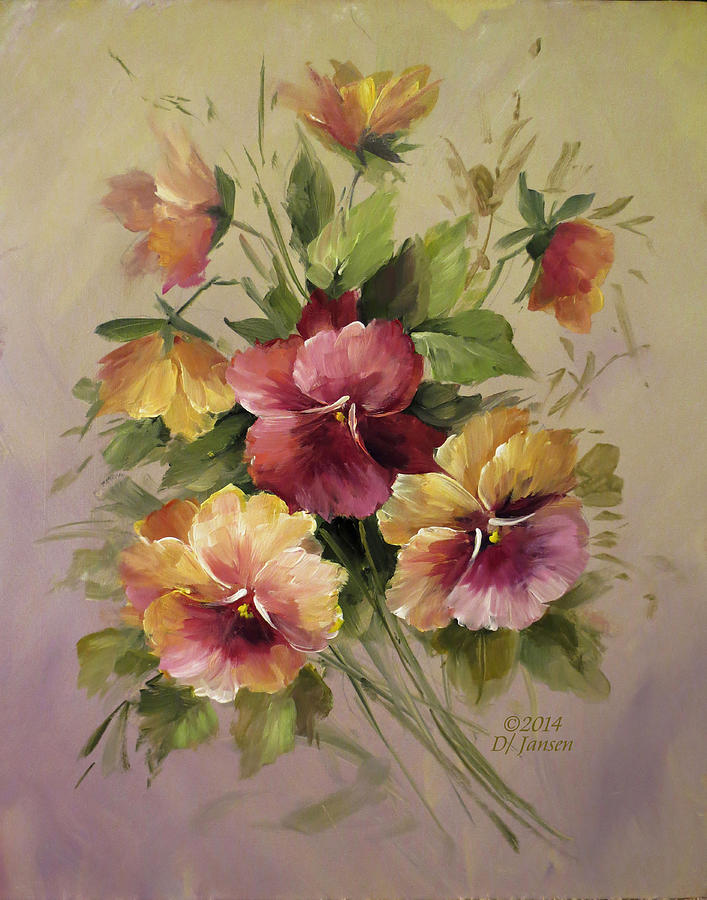 Pansies is a painting by David Jansen which was uploaded on March 30th ...