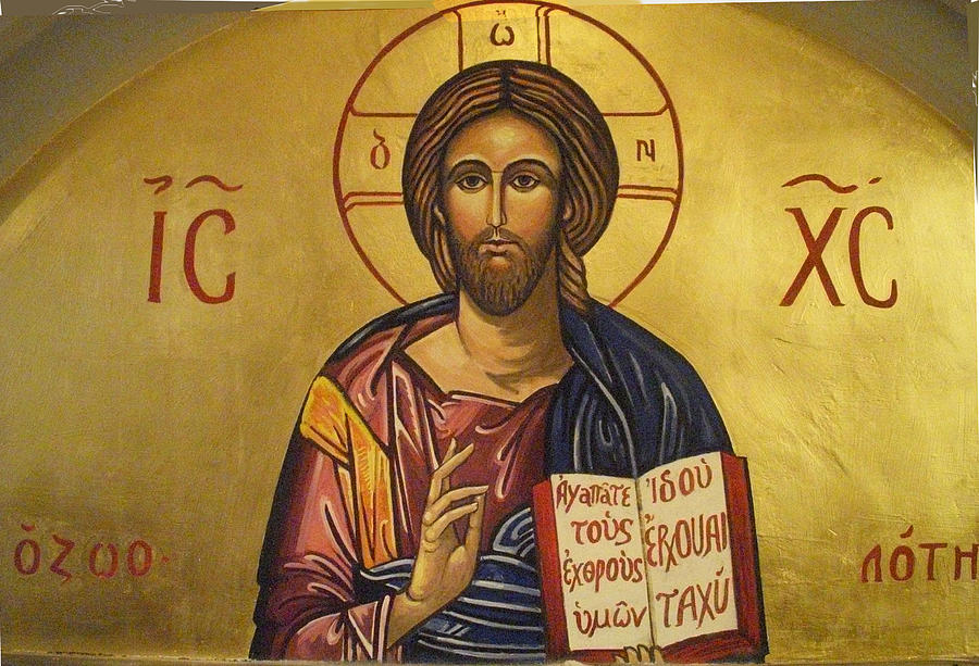 Sacred Art Painting - Pantocrator by Anthony Meton