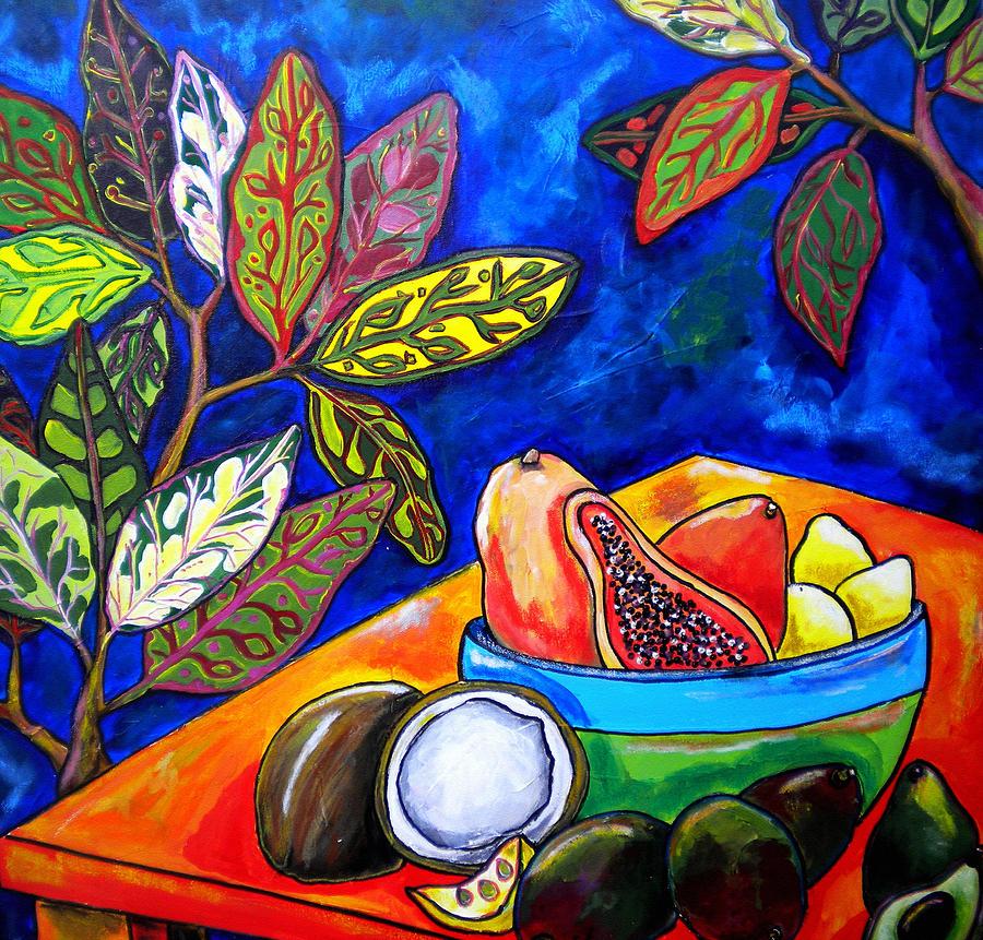 Tropical Painting - Papaya Morning by Patti Schermerhorn