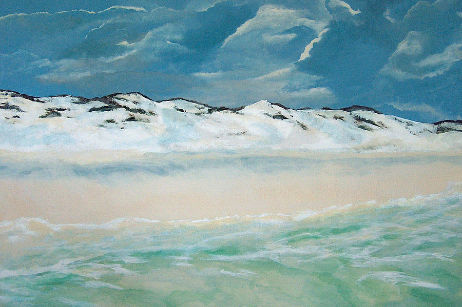 Blue Mountain Beach Painting - Paradise by Racquel Morgan