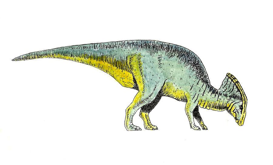 Parasaurolophus Painting