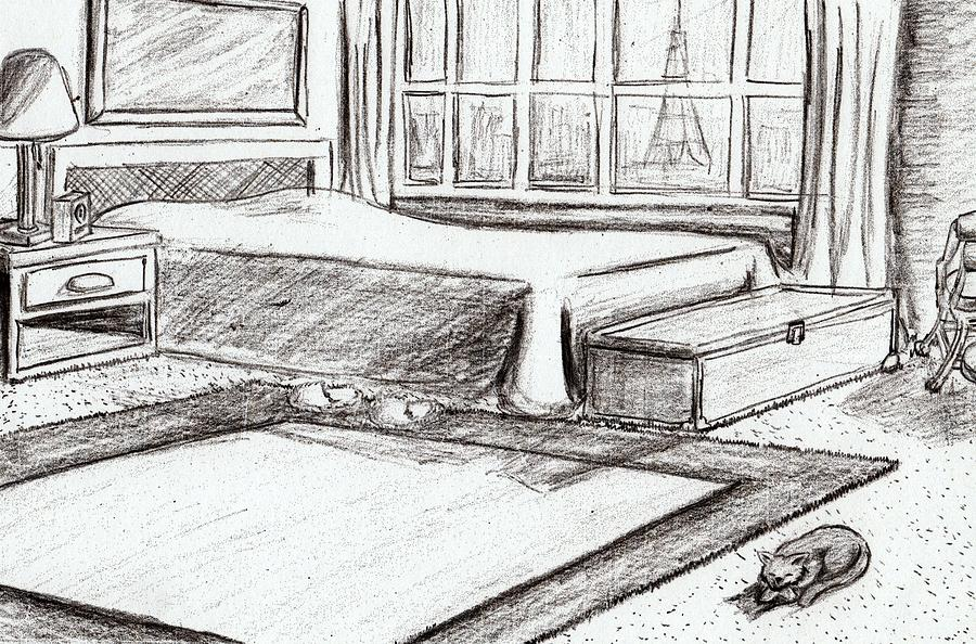 Bedroom Drawing Pencil Magiel Info