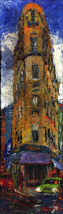 Oil Painting - Paris Hotel 7 Avenue by Yuriy  Shevchuk