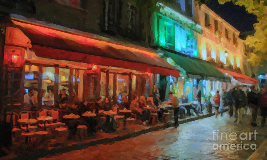 Paris Night Painting